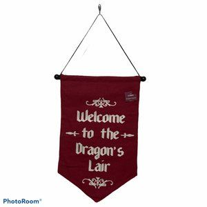 NWT banner Dragon's Lair embroidered At Home